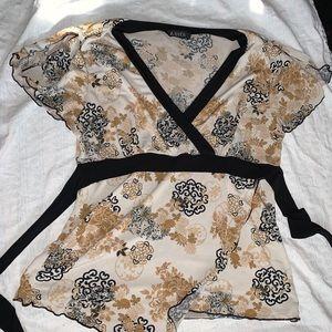 A.Byer pretty shirt with tie waist